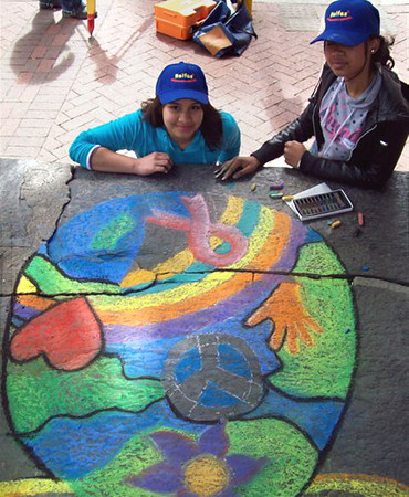 CHALK4PEACE 2009 ST. GEORGE'S CATHEDRAL, Cape Town, S. AFRICA 9/18/09
