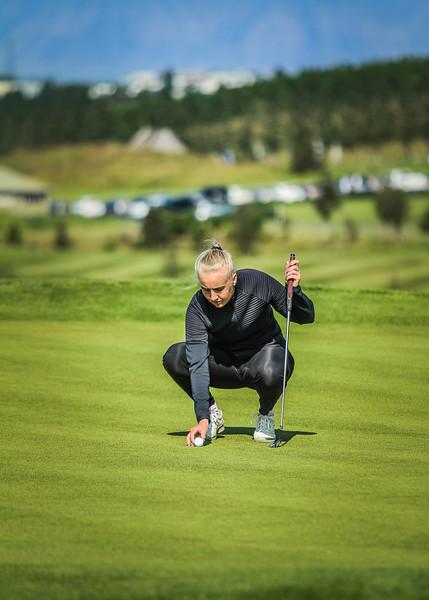 GK, Anna Sólveig Snorradóttir Íslandsmót í golfi 2019 - Grafarholt 2. keppnisdagur Mynd: seth@golf.is