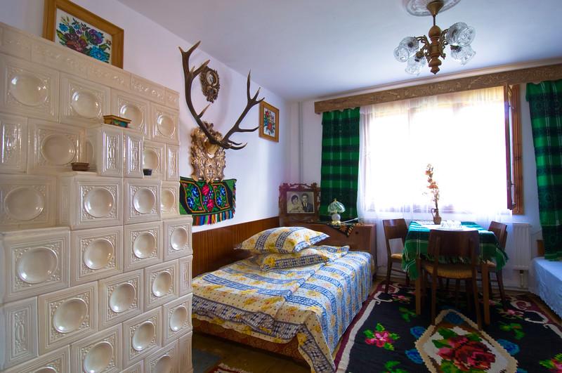 Homestay, country house interior, Sucevita , Moldavia, Romania