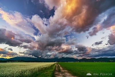 Sunset near Kamnik - Sep 5, 2016