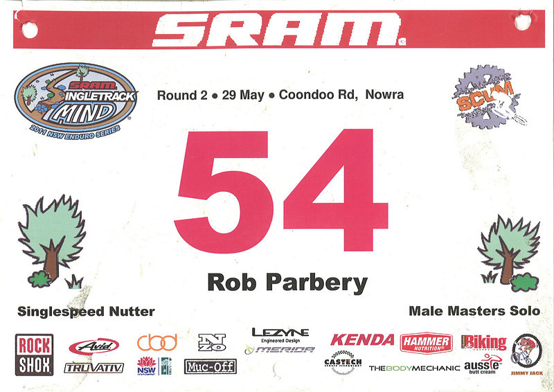 SRAM Singletrack Mind Series Round 2 - Nowra 14th Masters Blokes 8th SS Open