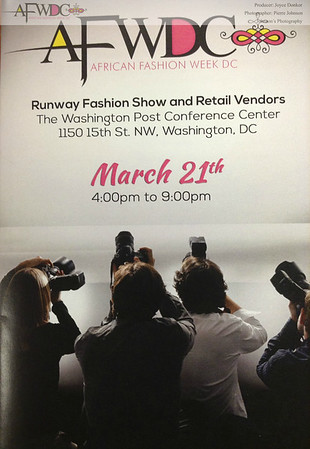 African Fashion Week DC 2015 - AFWDC - AFWDC Runway Fashion Show and Vendors - Designer Showcase 3-21-2015