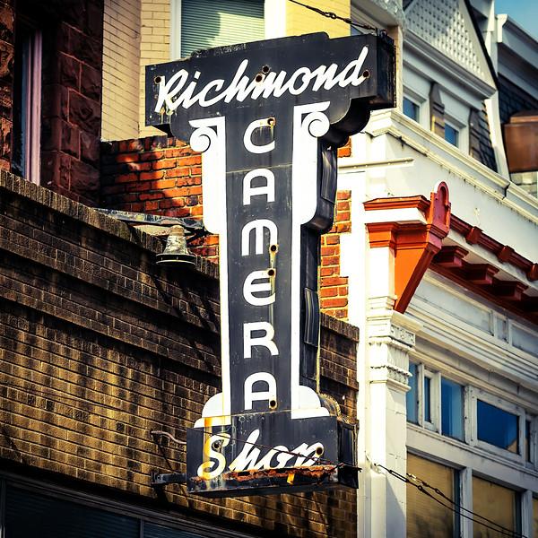 Richmond Camera Vintage Sign