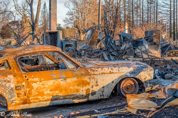 Coffey Park Fire Destruction 2017 Oct 8 and 9