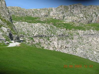 einde van de grijze Marguerais, nabij Col des Seigneurs