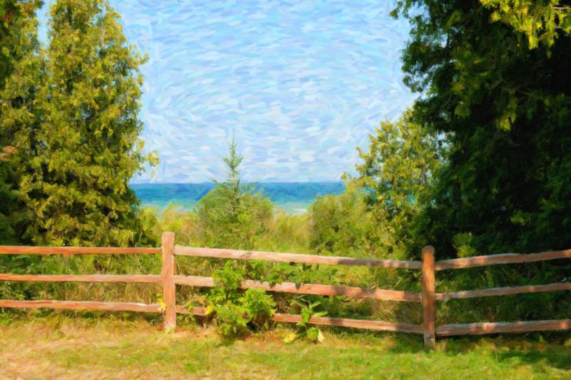 051 Michigan August 2013 - Grand Traverse Lighthouse Shore SnapArt.jpg
