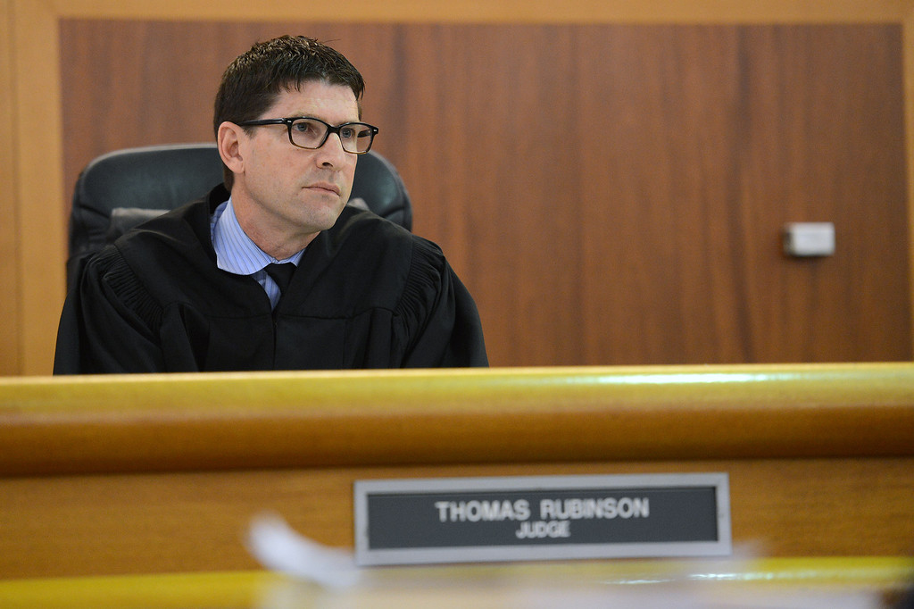 . Judge Thomas Rubinson during sentencing for former Dodger Milton Bradley in Van Nuys Superior Court Tuesday, July 2, 2013. Bradley was given almost 3-years on his convictions on 9 misdemeanor counts steaming from incidents involving his estranged wife. (Hans Gutknecht/Los Angeles Daily News)