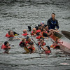 Dragon Boat Festival - Hartford CT - August 18, 2012 : Dragon boats on the Connecticut River, Riverfront Hartford, CT.  August 18th, 2012