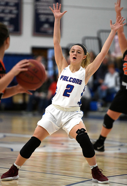 1/11/2019 Mike Orazzi | Staff St. Paul's Kailyn Bielecki (2) Friday night in Bristol against Watertown.