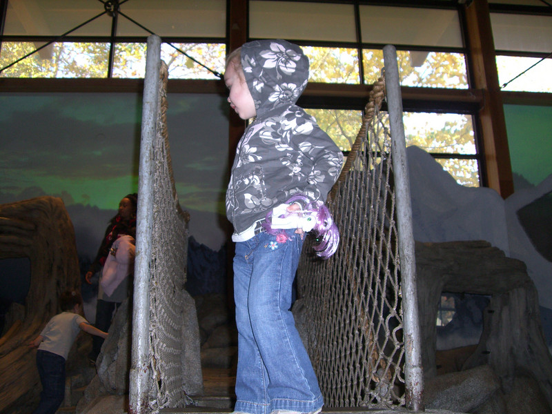 Playing inside the Imaginarium at the Woodland Park Zoo.