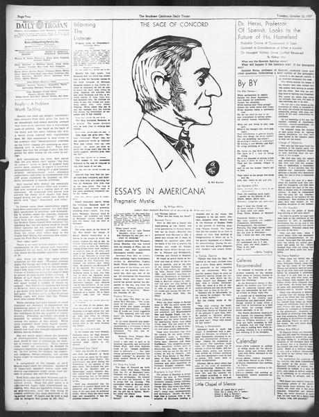 Daily Trojan, Vol. 29, No. 18, October 12, 1937