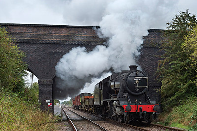 8F #8247 blasts through East Leake with a southbound freight