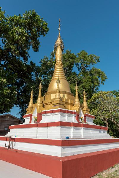 Golden Stupa, Ngapali, Myanmar