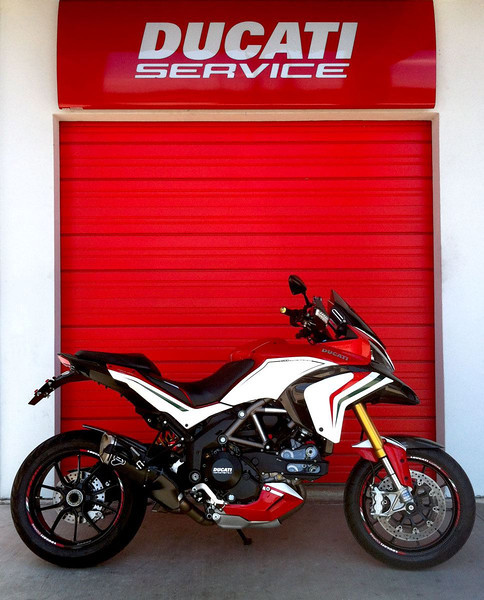 Custom Multistrada 1200S Tricolore by  http://www.motovationusa.com  rticle here (link to come)