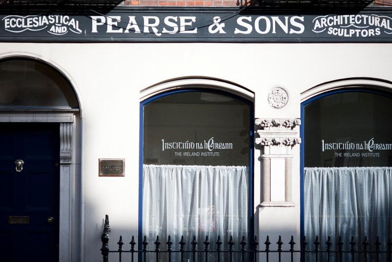 Facade of a shop, Pearse street, Dublin, Ireland