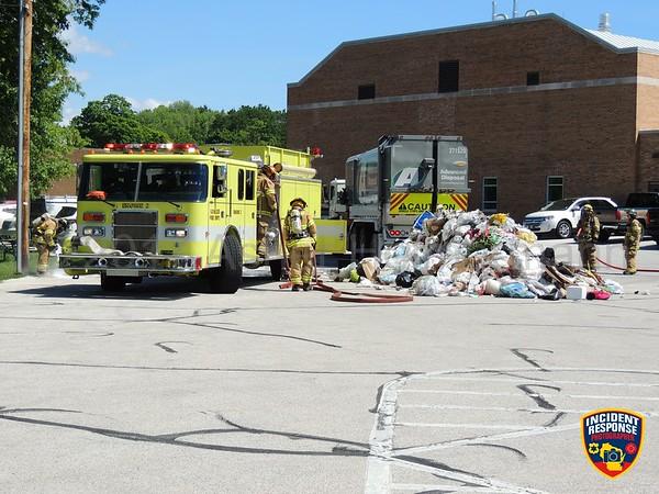 Garbage truck fire on June 7, 2017