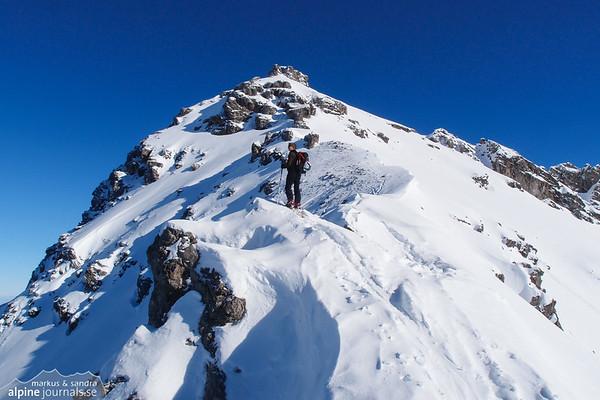 Alpgundkopf ski tour, Kleinwalsertal 2015-02-10