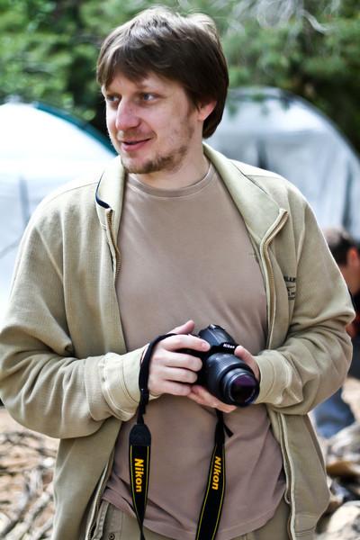 David and a camera
