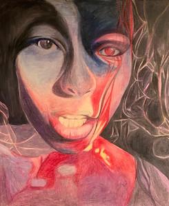 """""""Fragile Sanity"""" (acrylic, pencil, marker) by Niki Croom"""