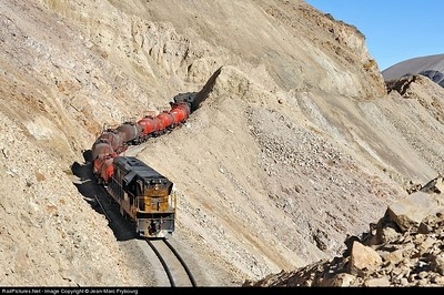 Well done Chilean rail roads tracks