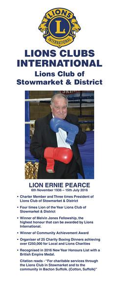 Ernie Pearce Memorial Charity Boxing Dinner 2017