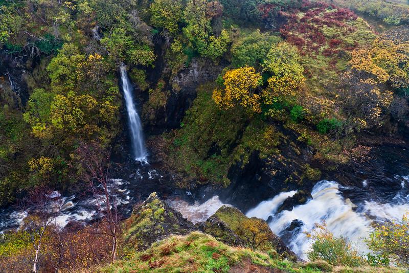 Fall Colors and Waterfall, Isle of Skye