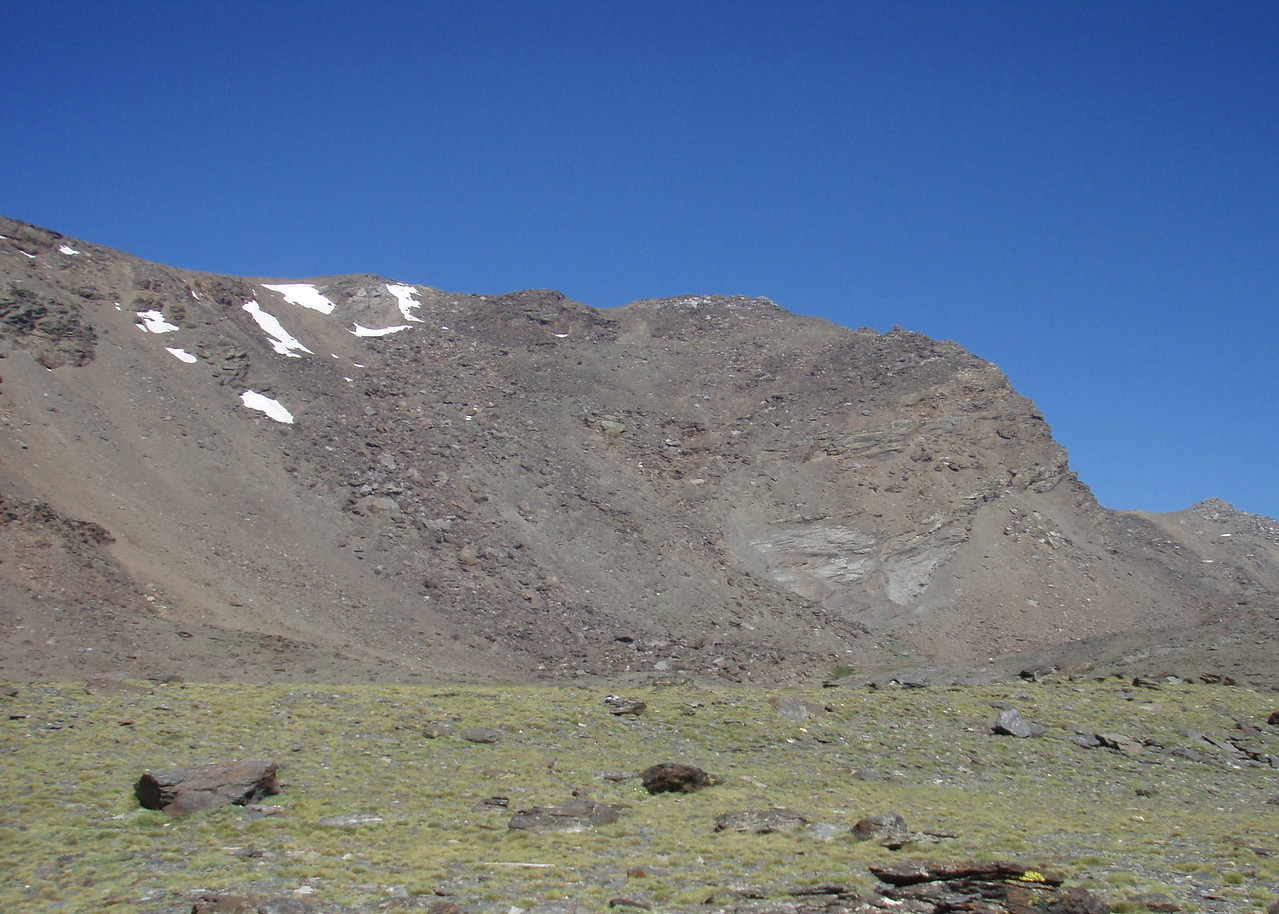Pico Mulhacen from El Refugio Natural Siete Lagunas