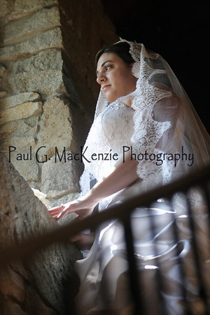 Brian Valdes and Alice Montanari Wedding -- Bridal Shoot at Castle McCulloch, Jamestown, NC
