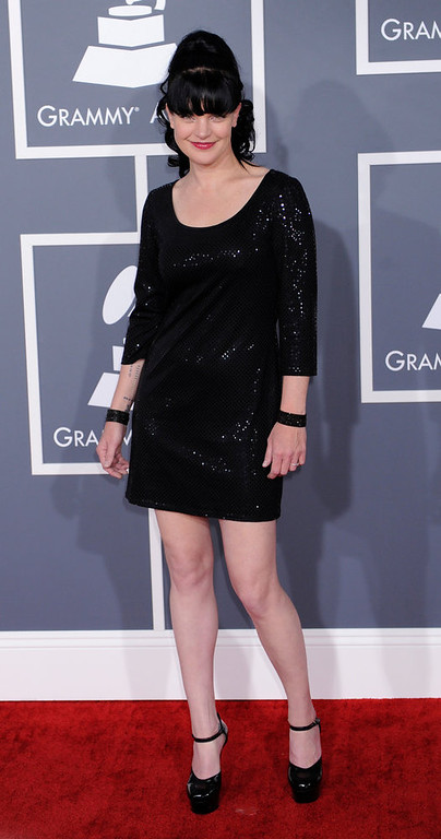 . Pauley Perrette arrives to  the 55th Annual Grammy Awards at Staples Center  in Los Angeles, California on February 10, 2013. ( Michael Owen Baker, staff photographer)