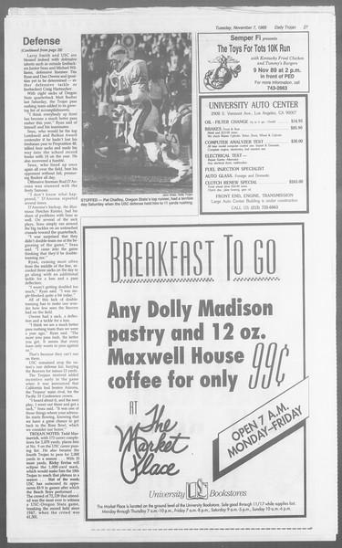 Daily Trojan, Vol. 110, No. 45, November 07, 1989