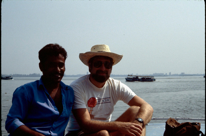 on boat in the backwaters of Cochin