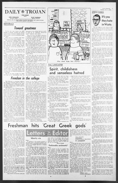 Daily Trojan, Vol. 58, No. 31, November 01, 1966