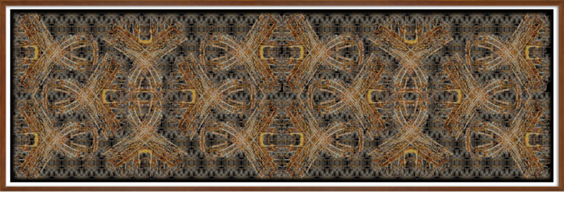 """f X2 X with title CONTRANCE DANCE WHITE BORD. BROWN FRAM BEVEL AND DROP SHADOW 10""""•.png"""