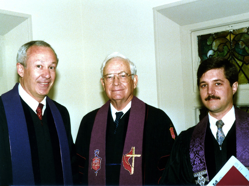 (L to R) Rev. Dr. Henry Roberts, Bishop Paul Duffey, Rev. Dr. Mark D. La Branche