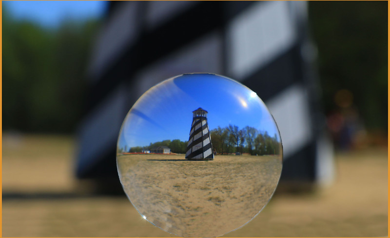 Lens Ball Lighthouse
