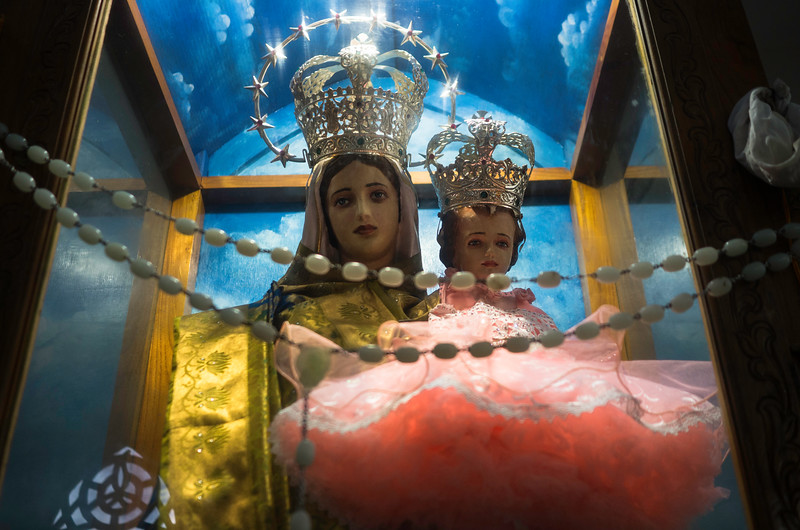 Most of the traditions are localised by the community, which gives a glimpse of local Tamil culture amalgamated with Christanity . The name of the churches have local Tamil names, as this church is called Uvari Selvamada church which means all things granted. Mother Mary is wearing a shining silk saree, while Jesus is dressed as a baby girl.