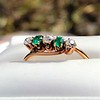 .45ctw Victorian 5 Stone OEC and Emerald Band 0