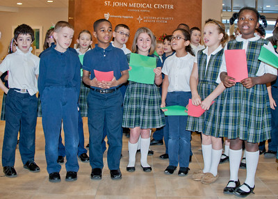 West Park Catholic Academy visits St. John Medical Center
