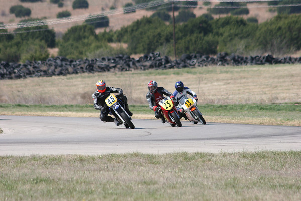 Bikes on the track at 1036-1043 Sat