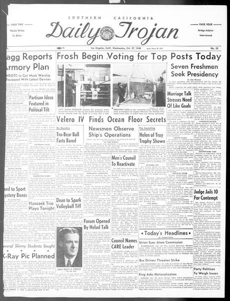 Daily Trojan, Vol. 40, No. 33, October 27, 1948