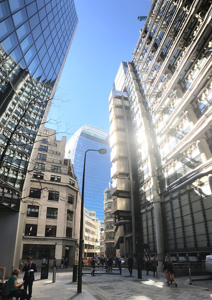 Vertical panorama City of London