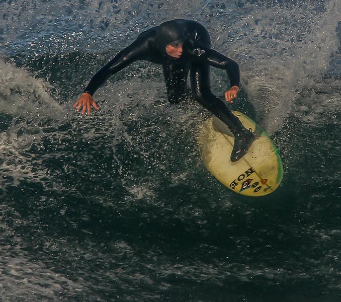 Slammin' it at Salmon Beach!