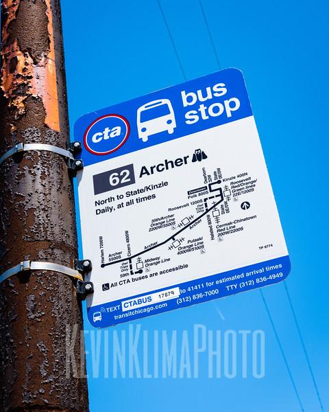 Archer CTA Bus Stop