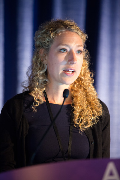Anna Sophie Berghoff, MD, PhD, speaks during Multidisciplinary Management of Brain Metastases