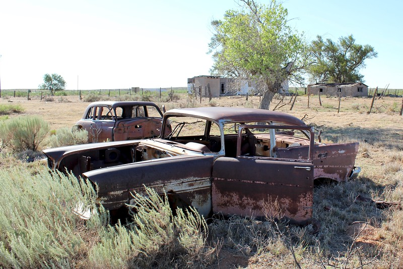 Abandoned ranch along Route 66 (2020)