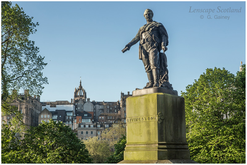 David Livingstone statue, East Princes Street Gardens
