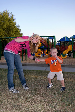 Nicole and Hudson at the Park