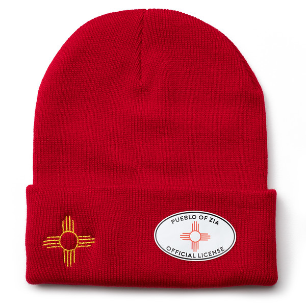 Outdoor Apparel - Organ Mountain Outfitters - Hat - Zia Sun Symbol Beanie Red.jpg