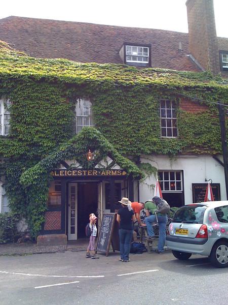Leicester Arms pub outside Penshurst