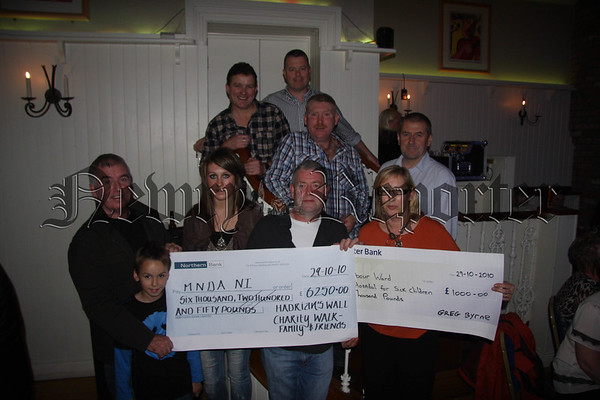 Cheque Presentations by Hadrian's Charity Walkers